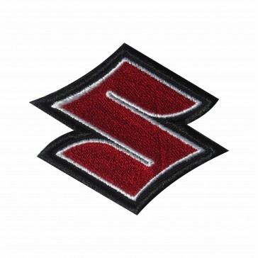 Embroidered patch biker band Suzuki (only the S)