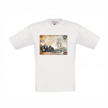 T-shirt B&C Exact 150 Criança Branco  7/8 Anos