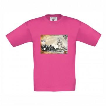T-shirt B&C Exact 150 Criança Fuchsia 7/8 Anos