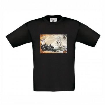 T-shirt B&C Exact 150 Criança Preto  7/8 Anos