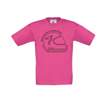 T-shirt B&C Exact 150 Criança Fuchsia 5/6 Anos