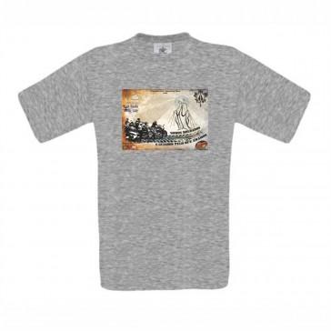 T-Shirt  B&C Exact 190 Unisexo de manga curta, Cinzento MescladoTamanho L