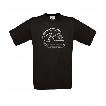 T-Shirt  B&C Exact 190 Unisexo de manga curta, Preto Tamanho L