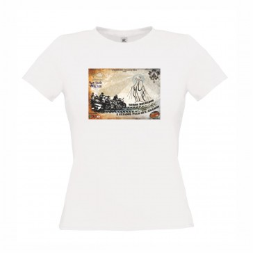 T-Shirt  B&C Exact 150 Senhora de manga curta, Branco Tamanho M