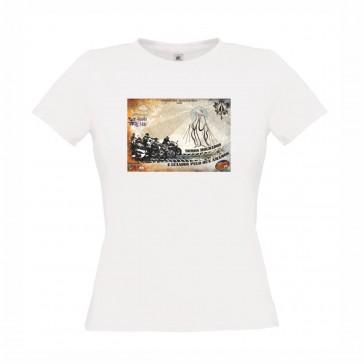 T-Shirt  B&C Exact 150 Senhora de manga curta, Branco Tamanho L