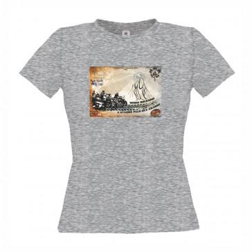 T-Shirt  B&C Exact 150 Senhora de manga curta, Cinzento MescladoTamanho L