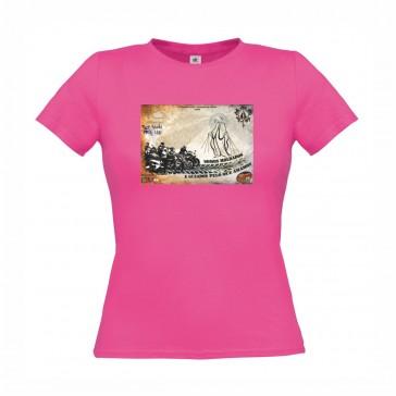 T-Shirt  B&C Exact 150 Senhora de manga curta, Fuchsia Tamanho XS