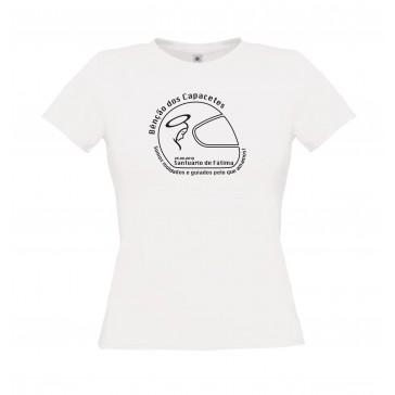 T-Shirt  B&C Exact 150 Senhora de manga curta, Branco Tamanho S