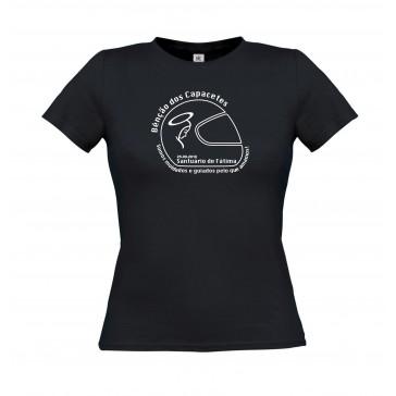 T-Shirt  B&C Exact 150 Senhora de manga curta, Preto Tamanho M