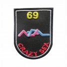 Embroidered patch Crazy Sex - 69