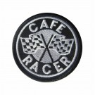 Embroidered patch Cafe Racer with checkered flags