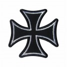 Embroidered patch Malta White Cross