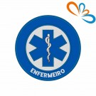 Embroidered patch Star of Life Round – Enfermeiro