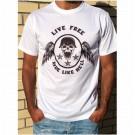 T-shirt Unisex B&P  Live Free Ride Like Hell  short sleeve