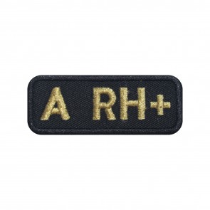 Embroidered patch Blood Grup A+ rectangular shape