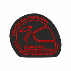 Sticker with the logo of the event with UV lamination.