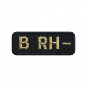 Embroidered patch Blood Grup B- rectangular shape