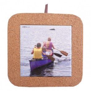 Square cork base for 4 inch tile (10,8x10,8 cm).
