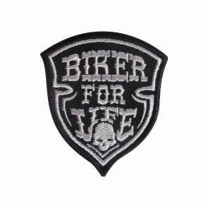 Embroidered patch Biker for life
