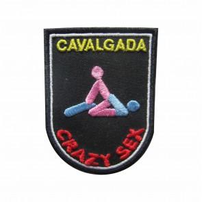 Embroidered patch Crazy Sex - Cavalgada