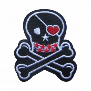 Embroidered patch pirate skull