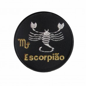 Zodiac Scorpio Embroidered Patch