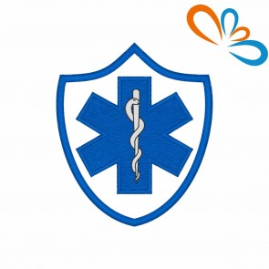 Embroidered patch Star of Life Shield