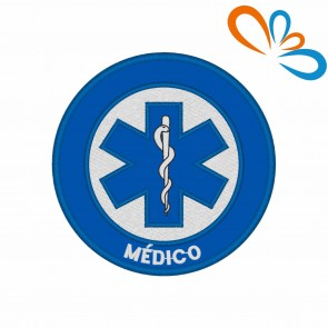 Embroidered patch Star of Life Round – Médico