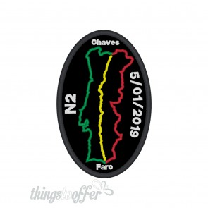 Patch Route N2 Oval  custom with date