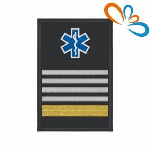 Divisa com Estrela da Vida de Oficial Superior com Velcro – Bombeiros