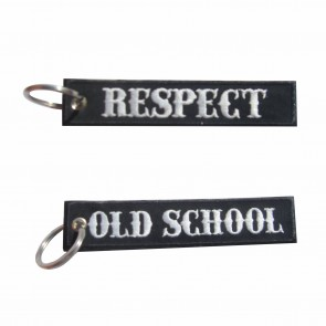 Old School Embroidered Keyring – Respect