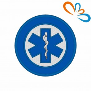 Embroidered patch Star of Life Round
