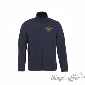 Men's softshell Sol's Radian Men zipped jacket, with the embroidery logo of Grupo Goldwing Portugal
