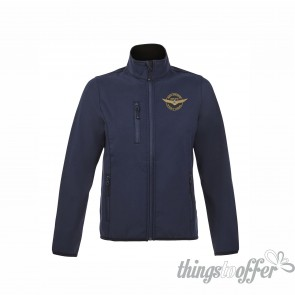 Softshell Sol's Radian Women zipped jacket, with the embroidery logo of Grupo Goldwing Portugal
