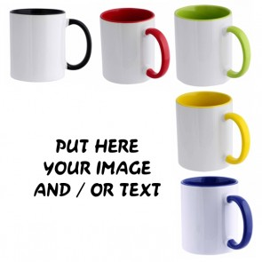 Ceramic Bicolor Mug 11 oz Personalized