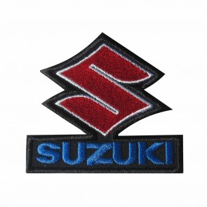 Embroidered patch biker band Suzuki