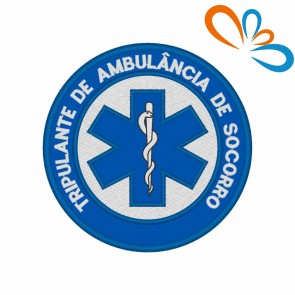 Embroidered patch Star of Life Round – Tripulante de Ambulância de Socorro