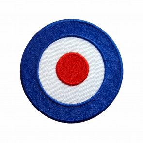 Embroidered patch biker Vespa Mod Target