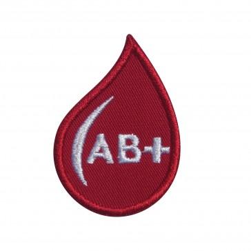 Parche Bordado Grupo Sanguineo AB+ (AB positivo) en forma de gotas