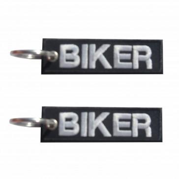Llavero bordado Biker