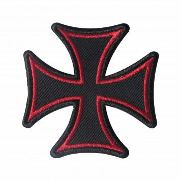 Parche Bordado cruz de Malta roga