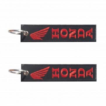 Llavero bordado de la Honda en la vertical