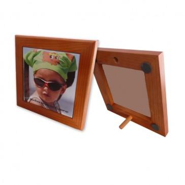 Marco de madera de color cereza  - para el azulejo de 10,8 x10, 8 cm
