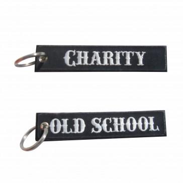 Llavero bordado Old School – Charity