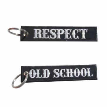 Llavero bordado Old School – Respect