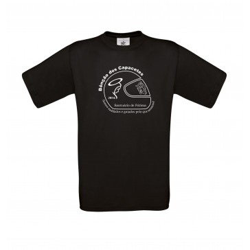 T-Shirt  B&C Exact 190 Unisexo de manga curta, Preto Tamanho XXL