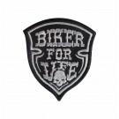 Parche Bordado Biker for life