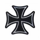 Parche Bordado cruz de Malta blanca