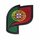 Parche Bordado bandera Portuguesa curva
