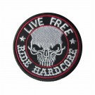 Parche Bordado Live Free, Ride Hard Core